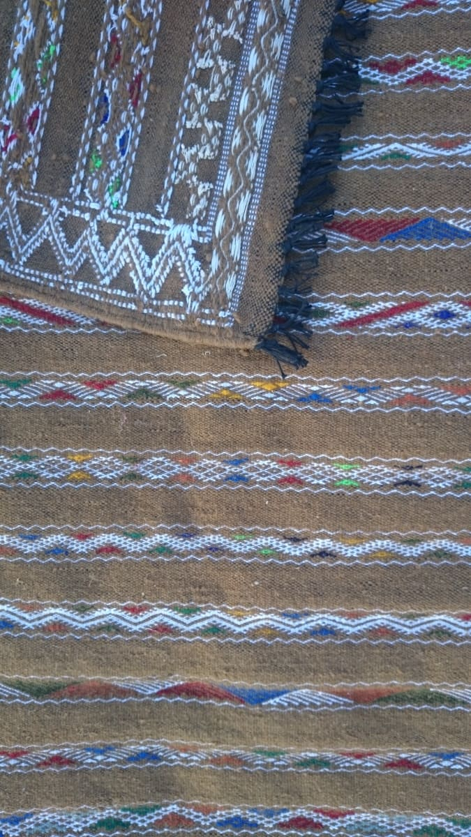 Hanbel  Wool Thread  and Wool White Morocco