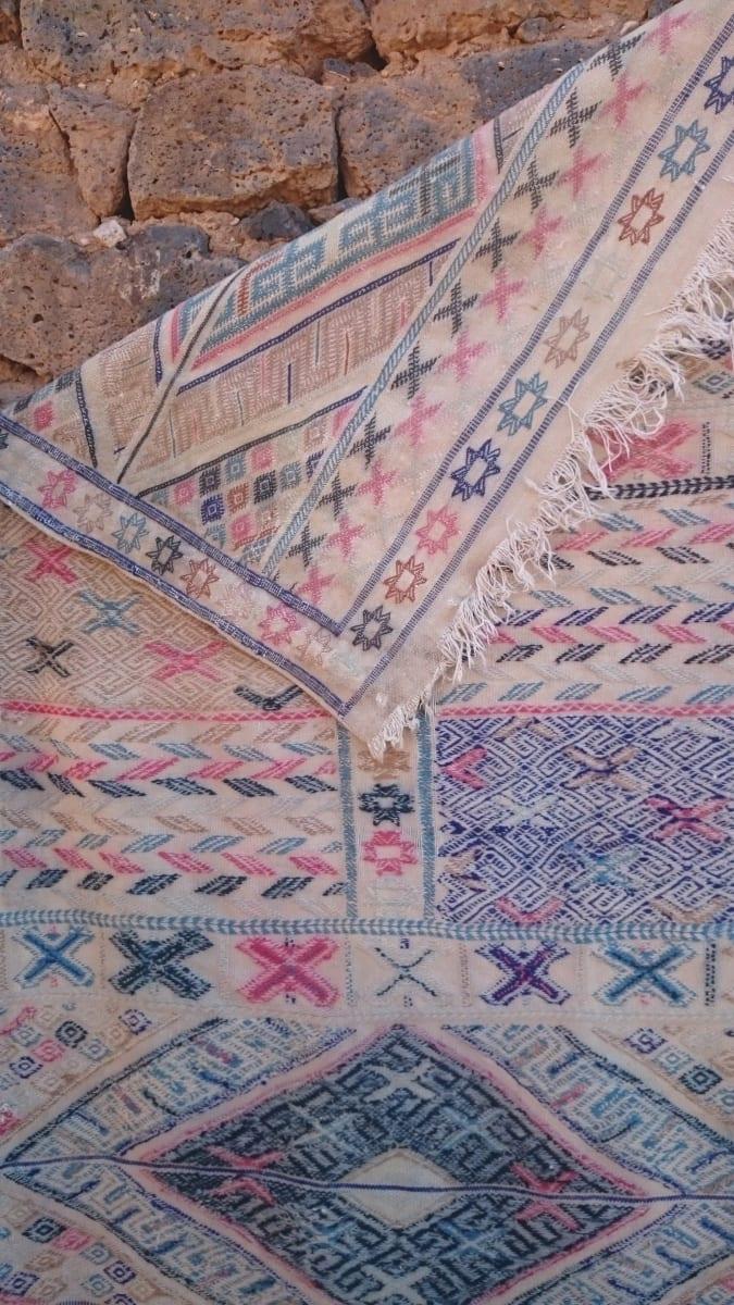 Hanbel  Wool Thread  and Wool Blue Morocco