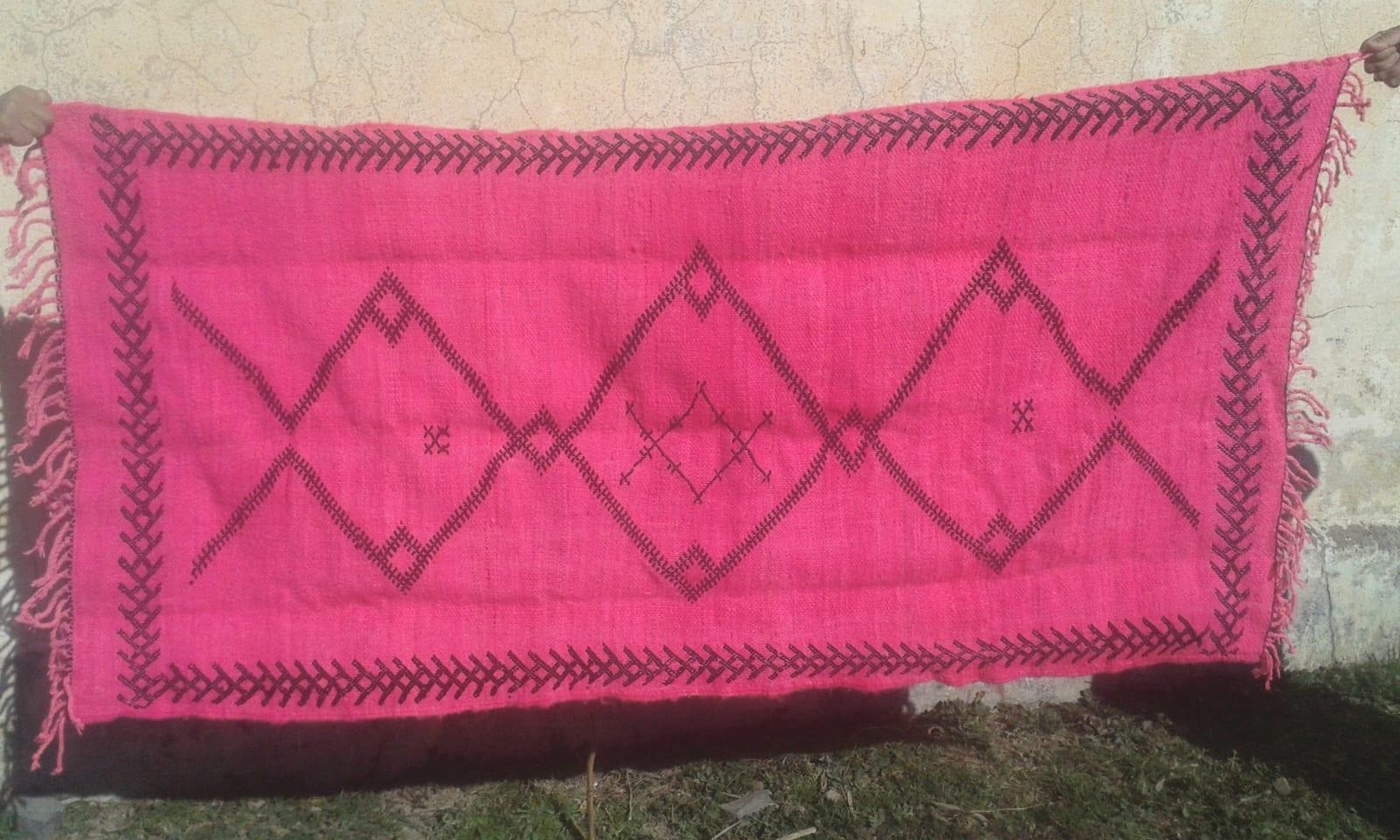 7266  Pink, Black Morocco
