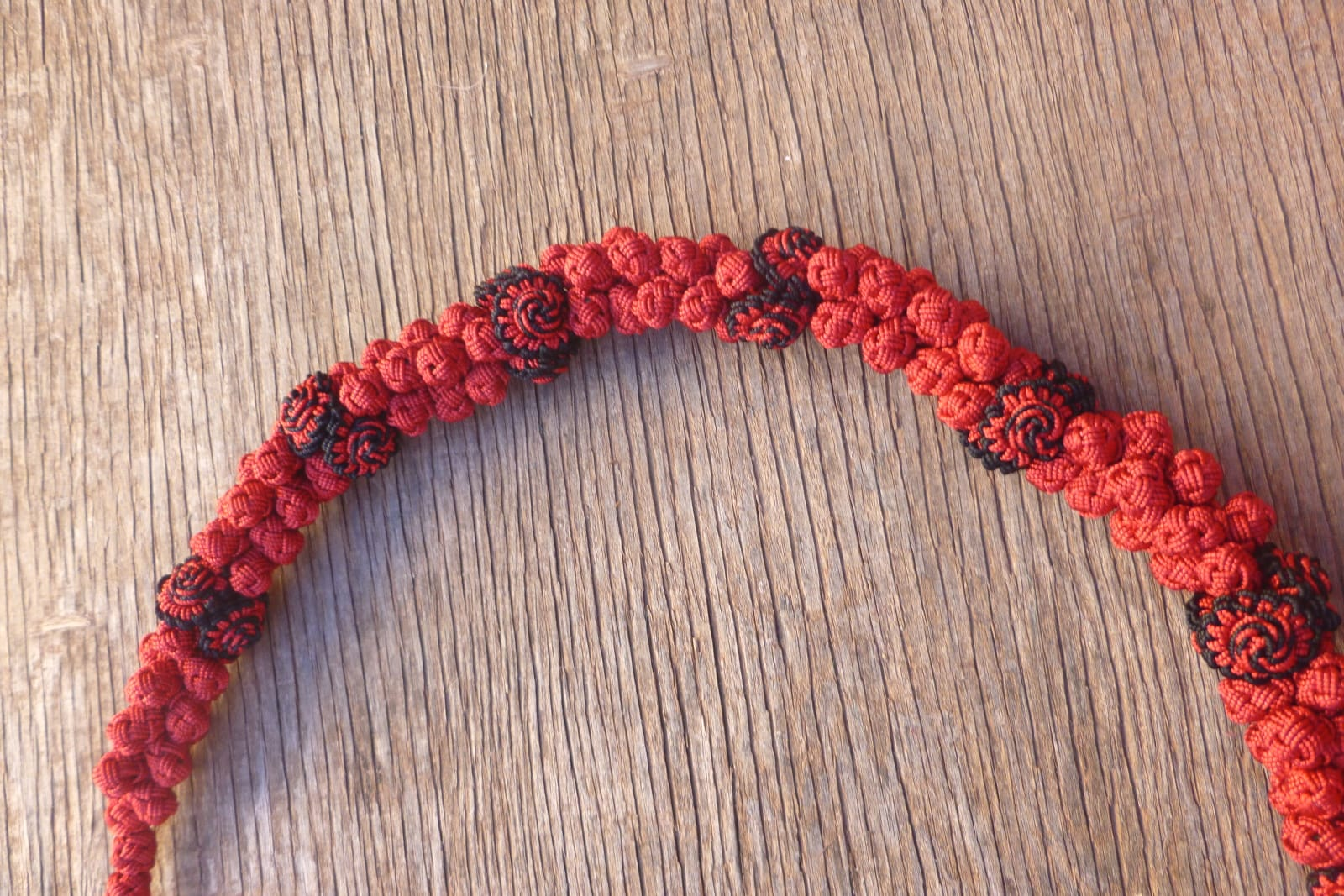 Cluster Necklace  Red, Black Morocco