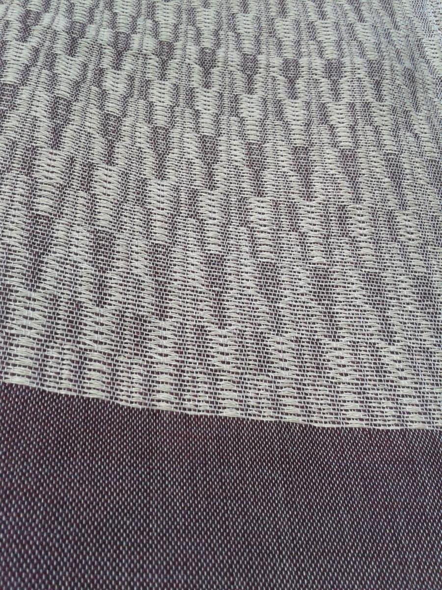 Shawl Cotton Thread Purple, White Morocco