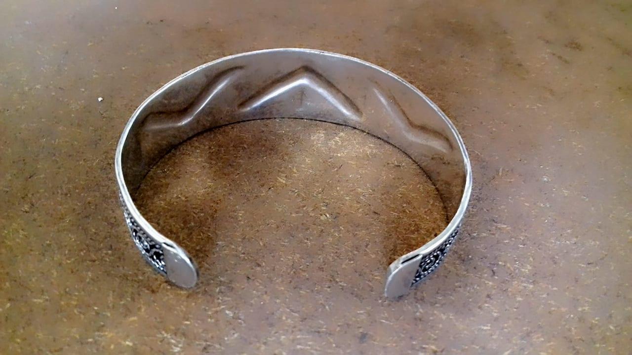 Bracelet 800 Tiznit Silver Black, White Morocco