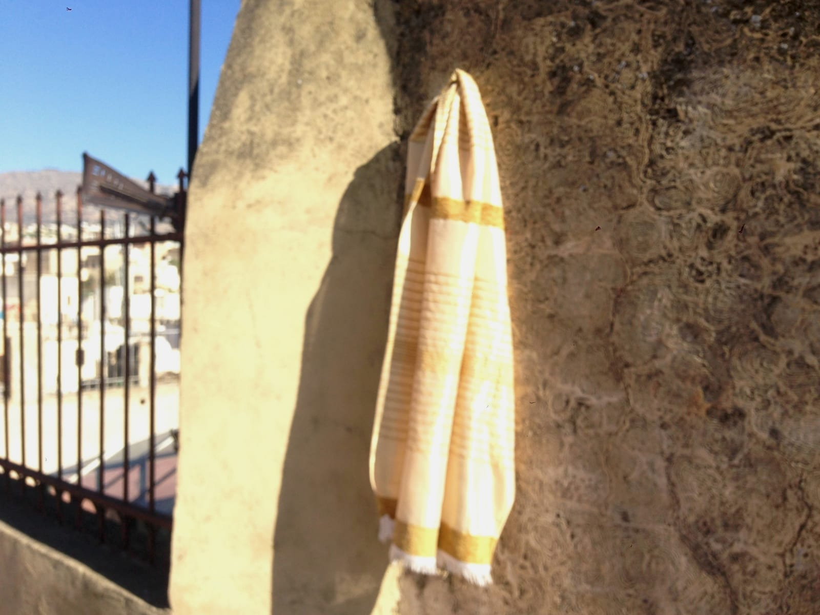 Scarf  Yellow, Brown Morocco