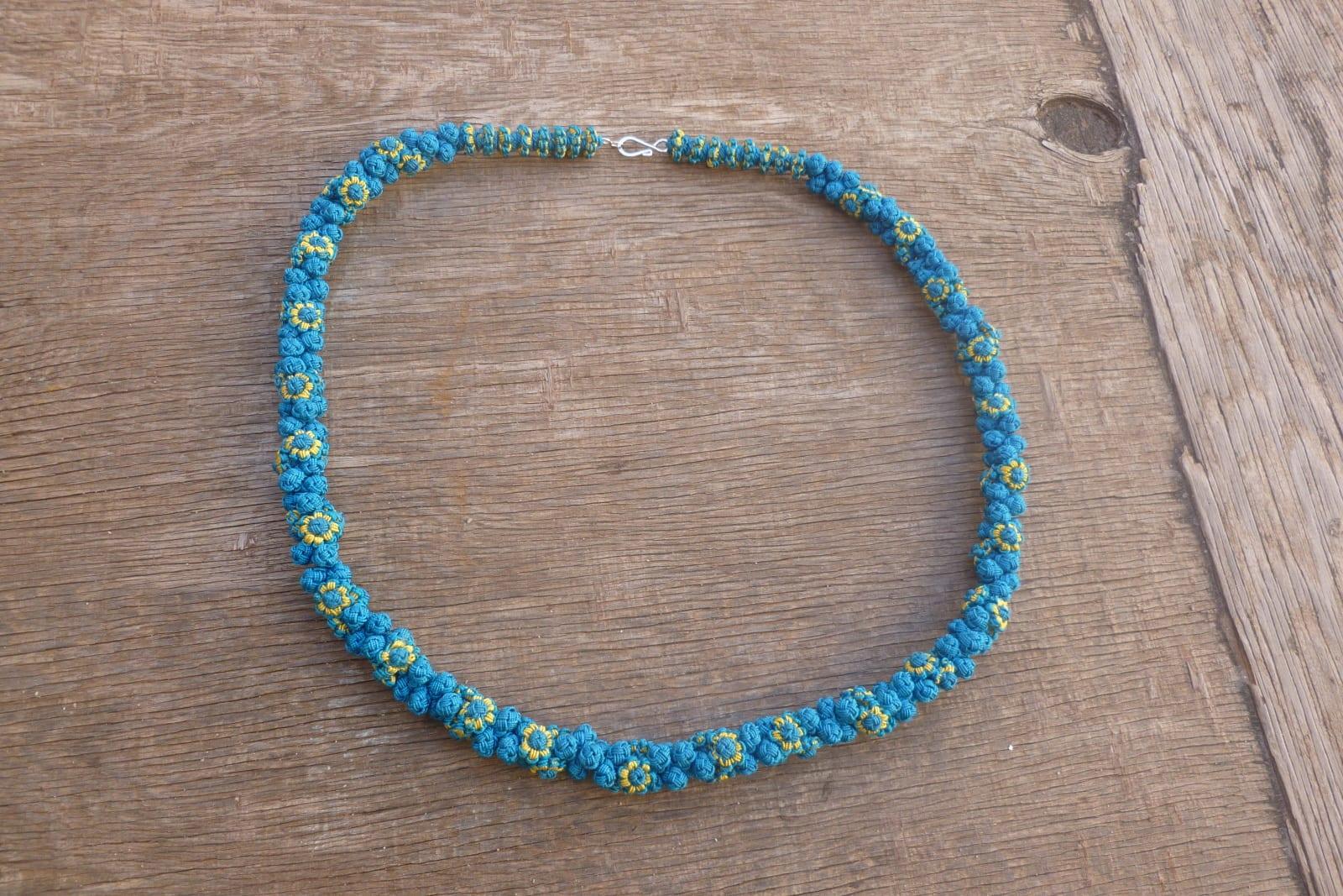 Cluster Necklace  Light Blue, Blue Morocco