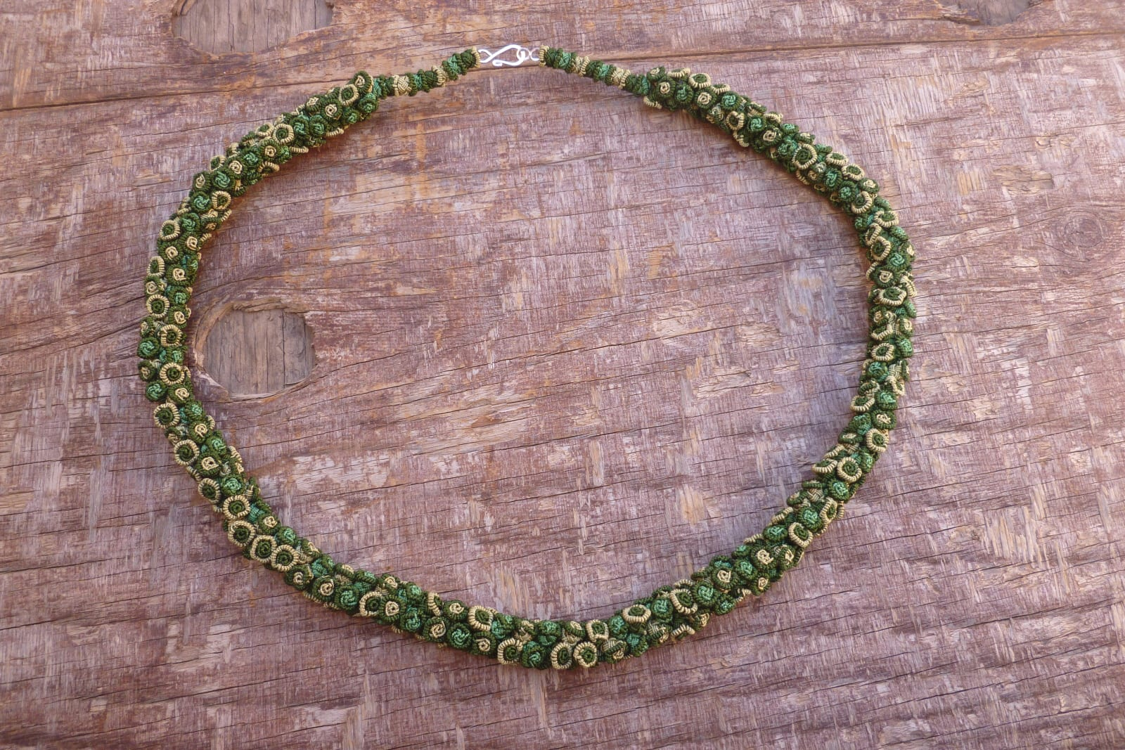 Cluster Necklace  Green Morocco