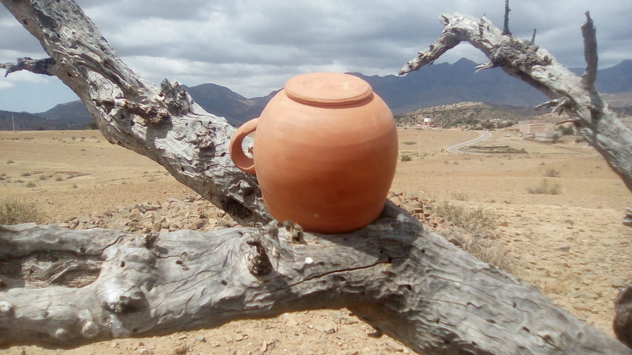 Clay glass Clay Orange Morocco