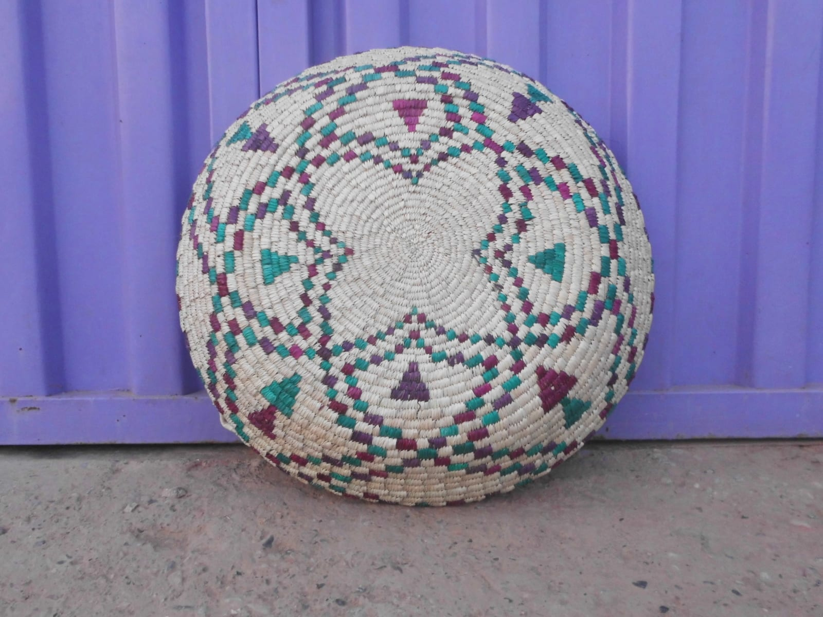 Woven Basket  Colored Morocco