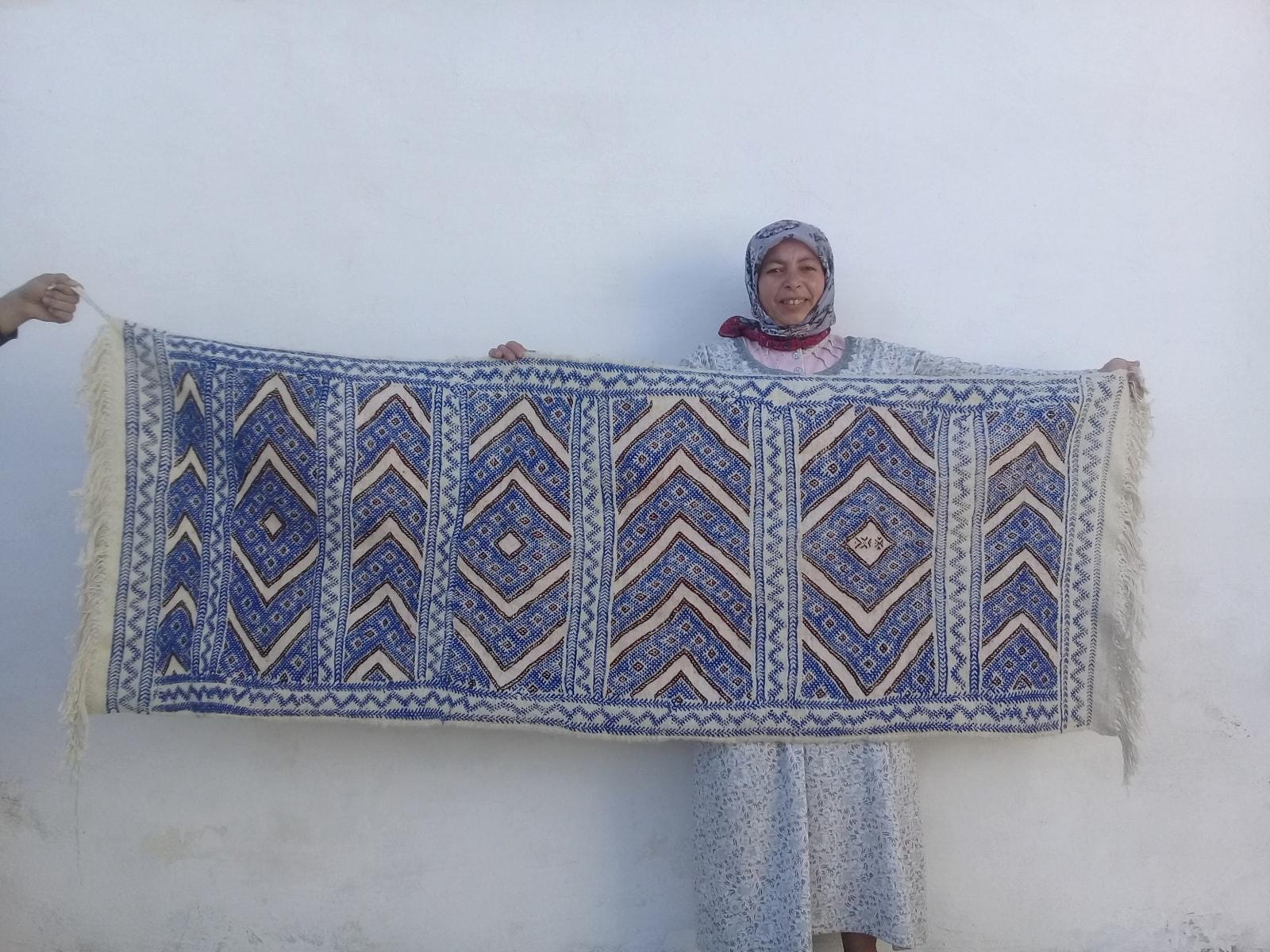 Hanbel Assouf Tadout and Sda Red, Blue Morocco
