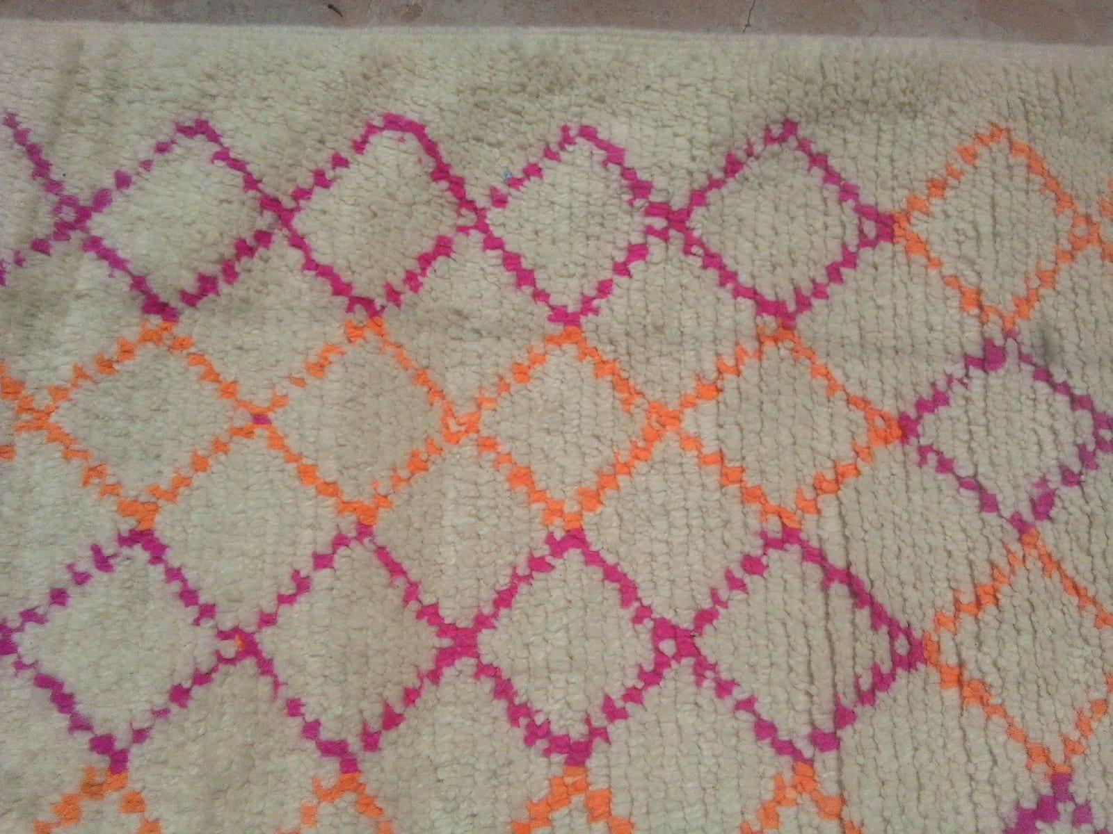 Pile Knot Rug Wool Pink, Orange Morocco