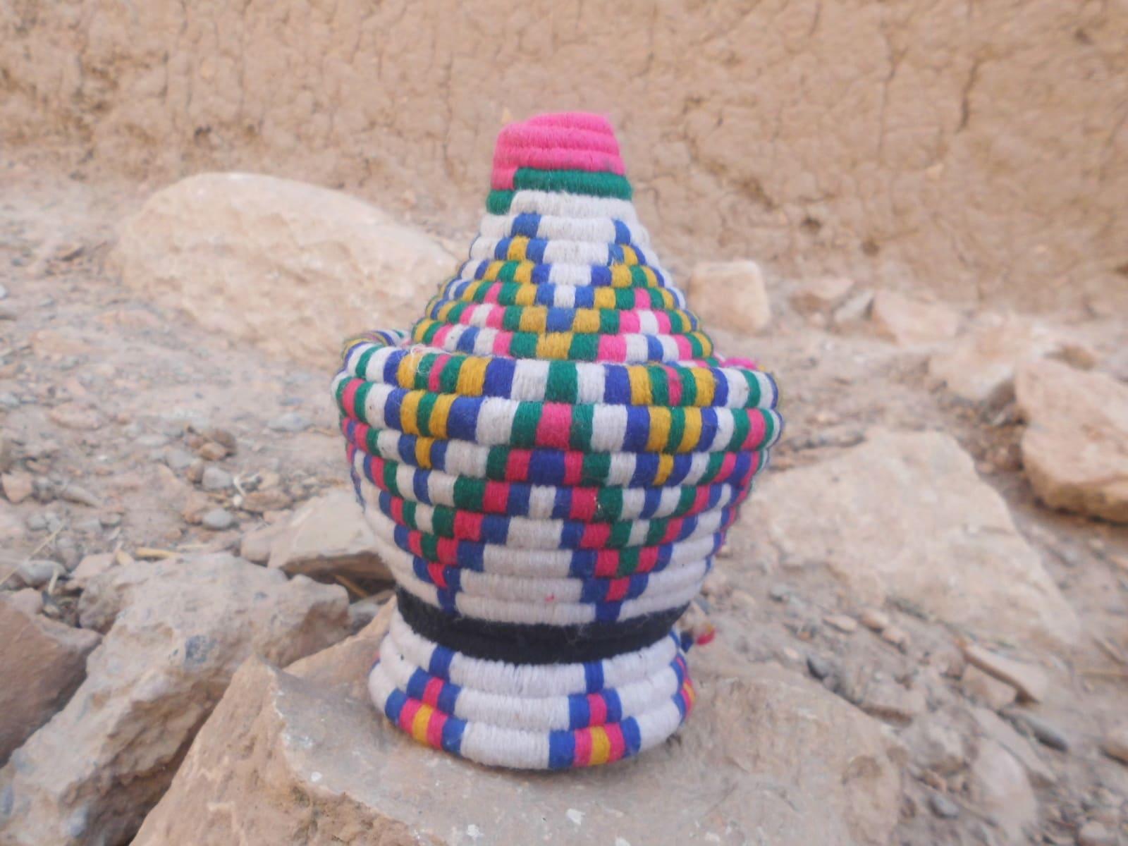 Woven Basket  Colored Morocco