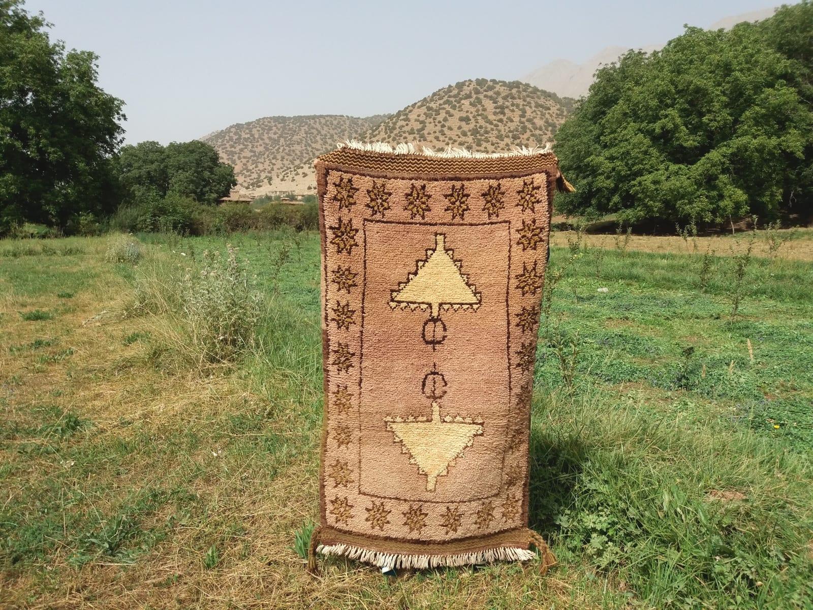 Beni Ourain Rug  Orange, Black Morocco
