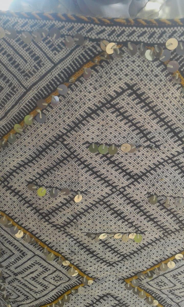 Hanbel Dyed Wool Yellow, Black Morocco