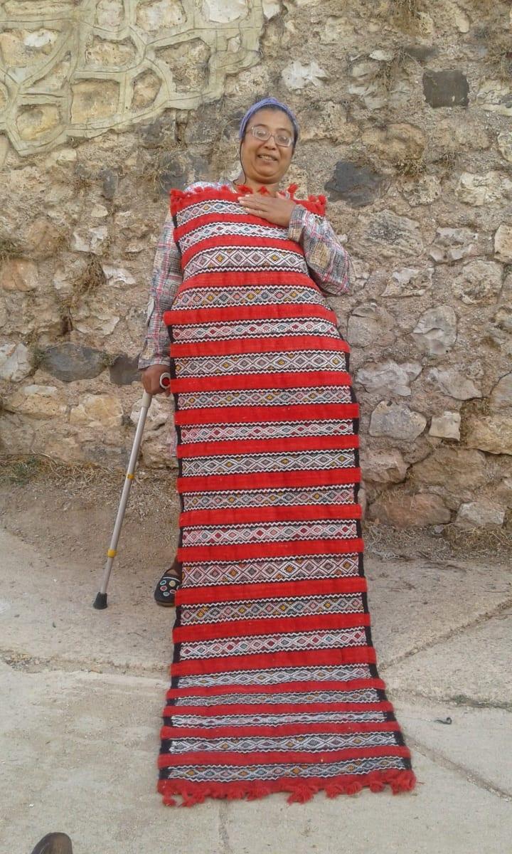 Hanbel Wool Red, Black Morocco