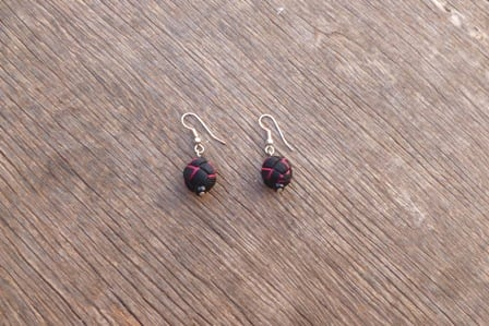 Ball and Button Earrings