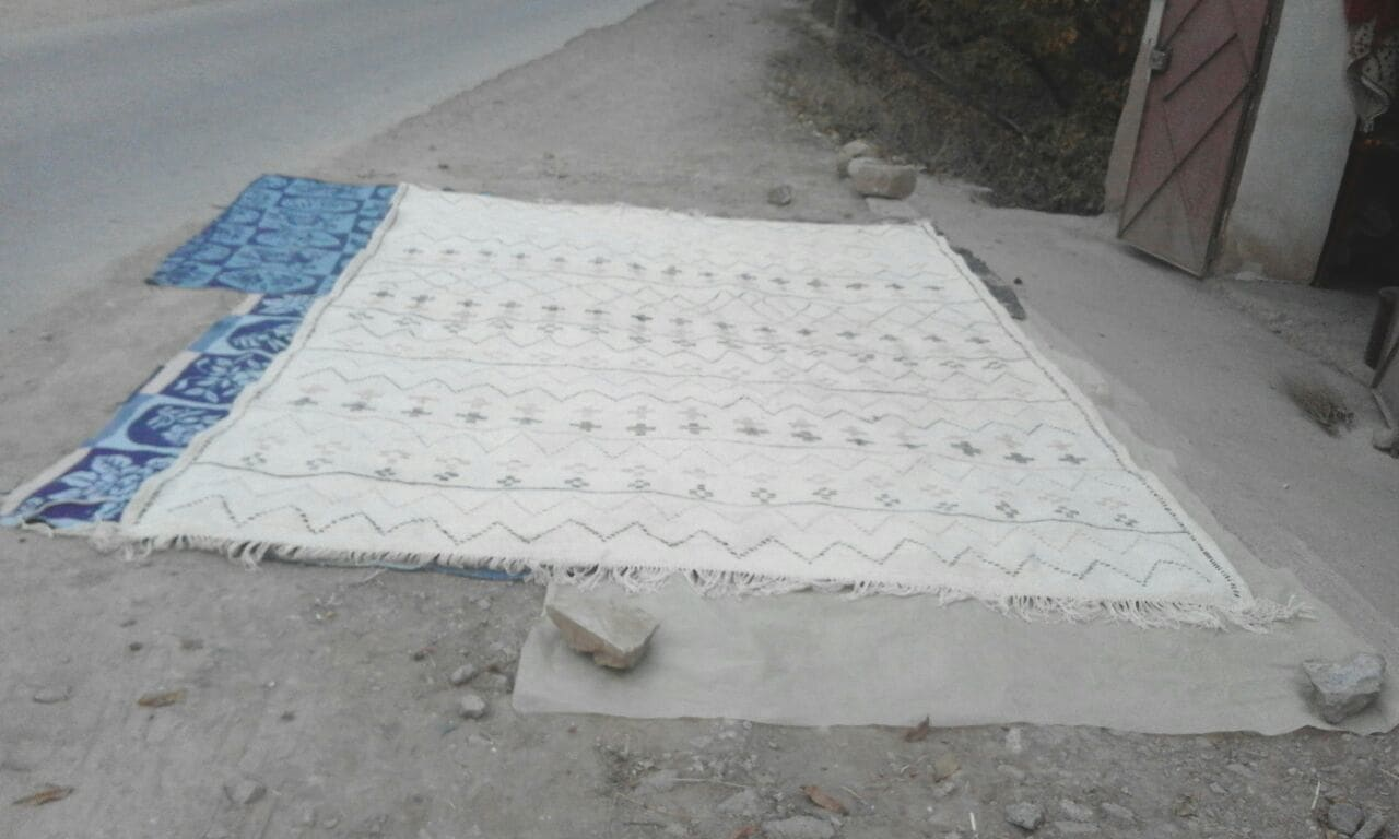 Beni Ourain Wool and Cotton Warp Colored Morocco