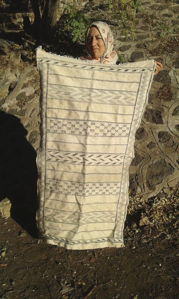 Hanbel Wool Black, White Morocco