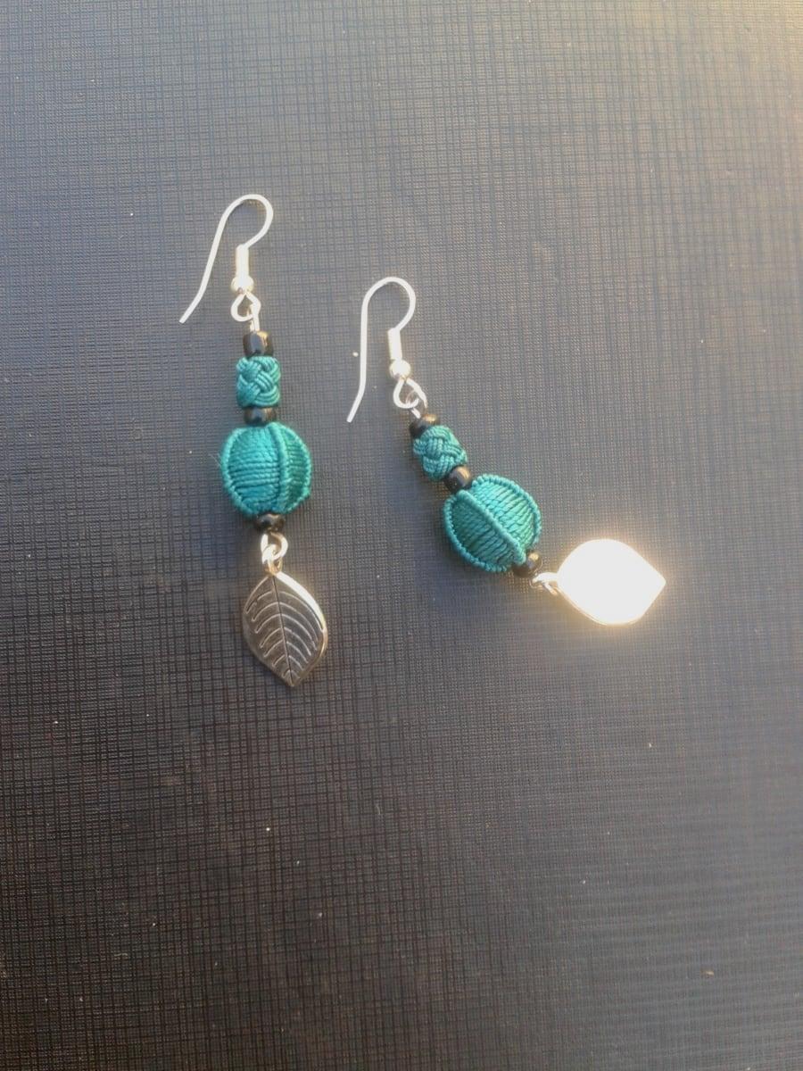 Button Dangle Earrings