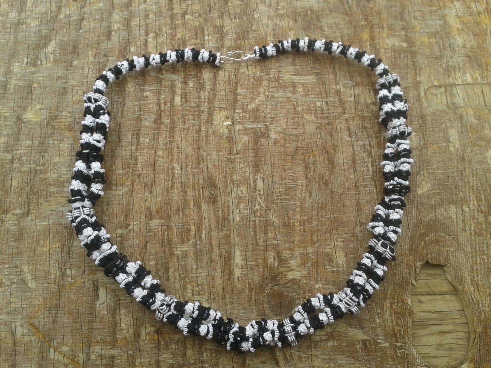 Cluster Necklace  Black, White Morocco