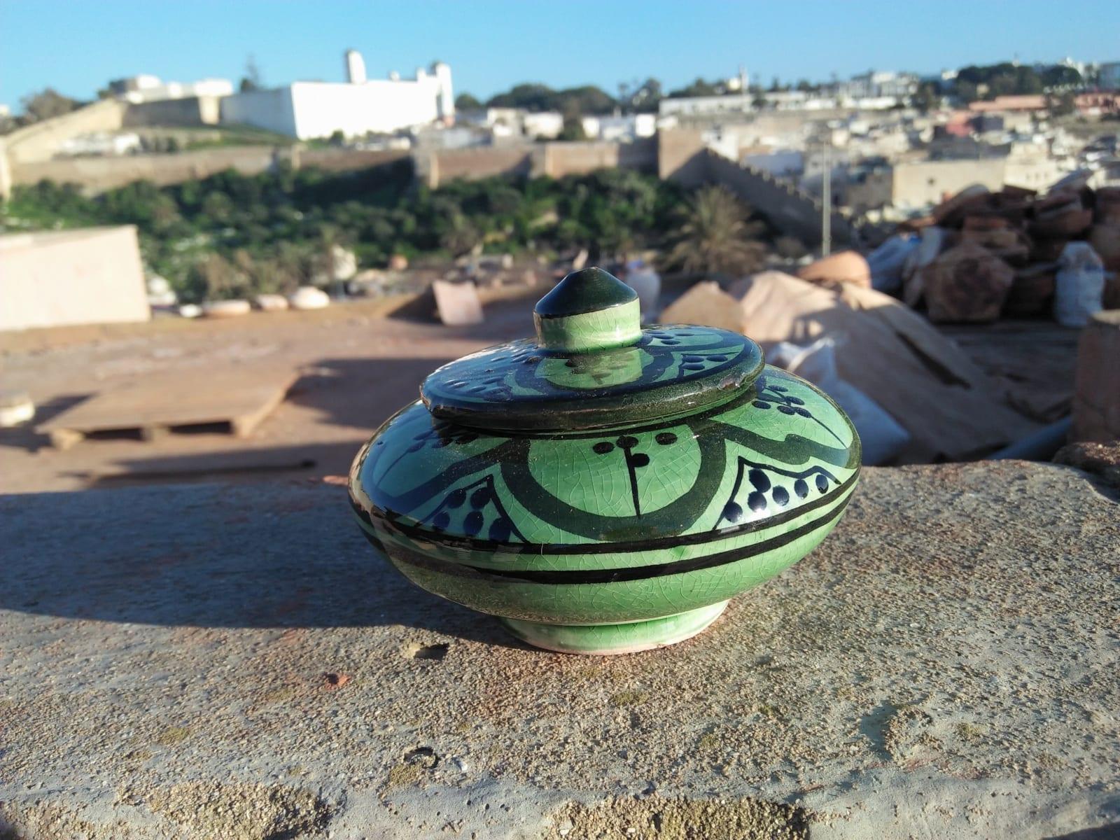 None  Green, Black Morocco