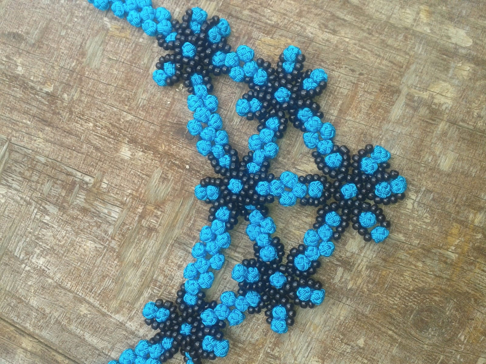 Necklace  Blue, Black Morocco