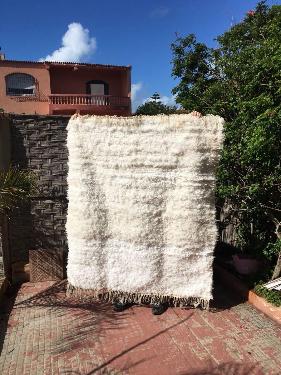 Btaniya Wool Thread  and Wool White Morocco