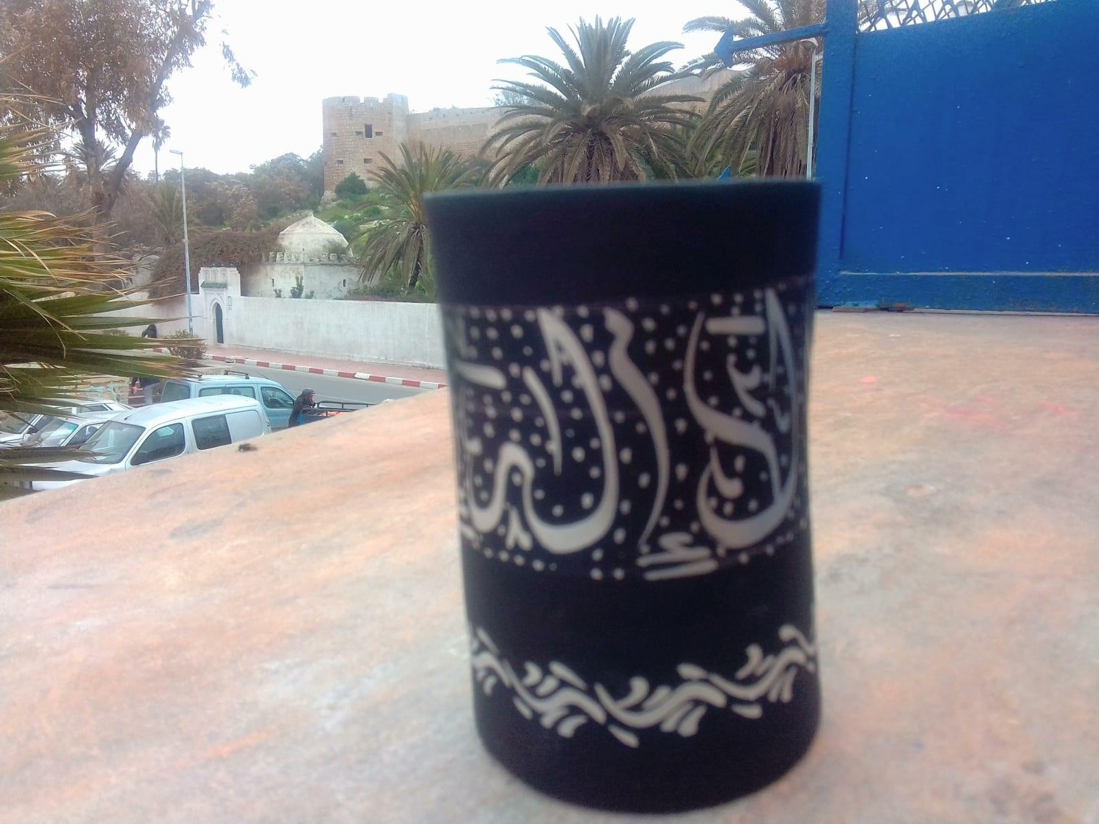 vase   Black, White Morocco