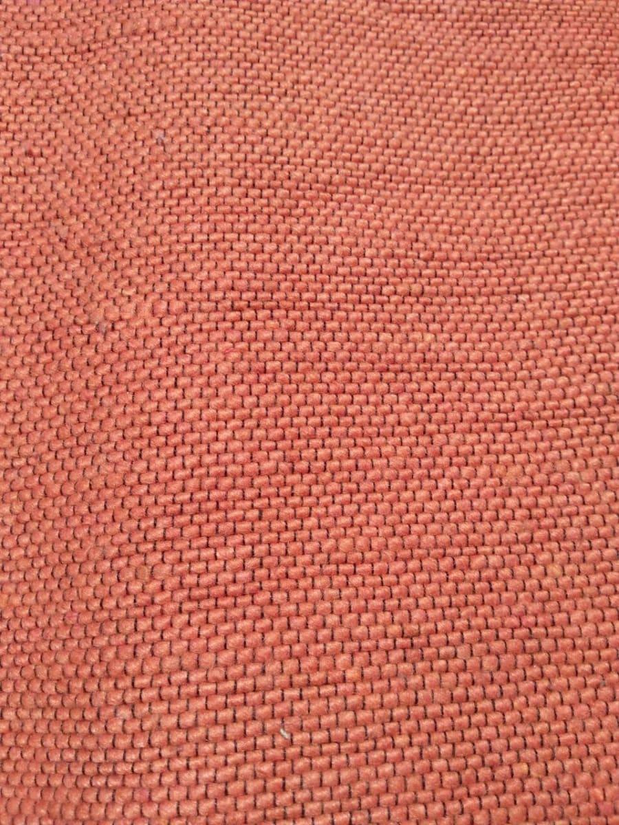 Genuine Wool Rug Colored Wool Orange Morocco
