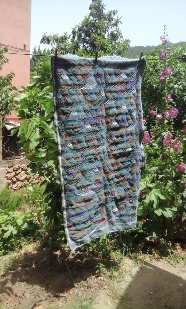 Hanbel Igni Rug Wool Green, Grey Morocco