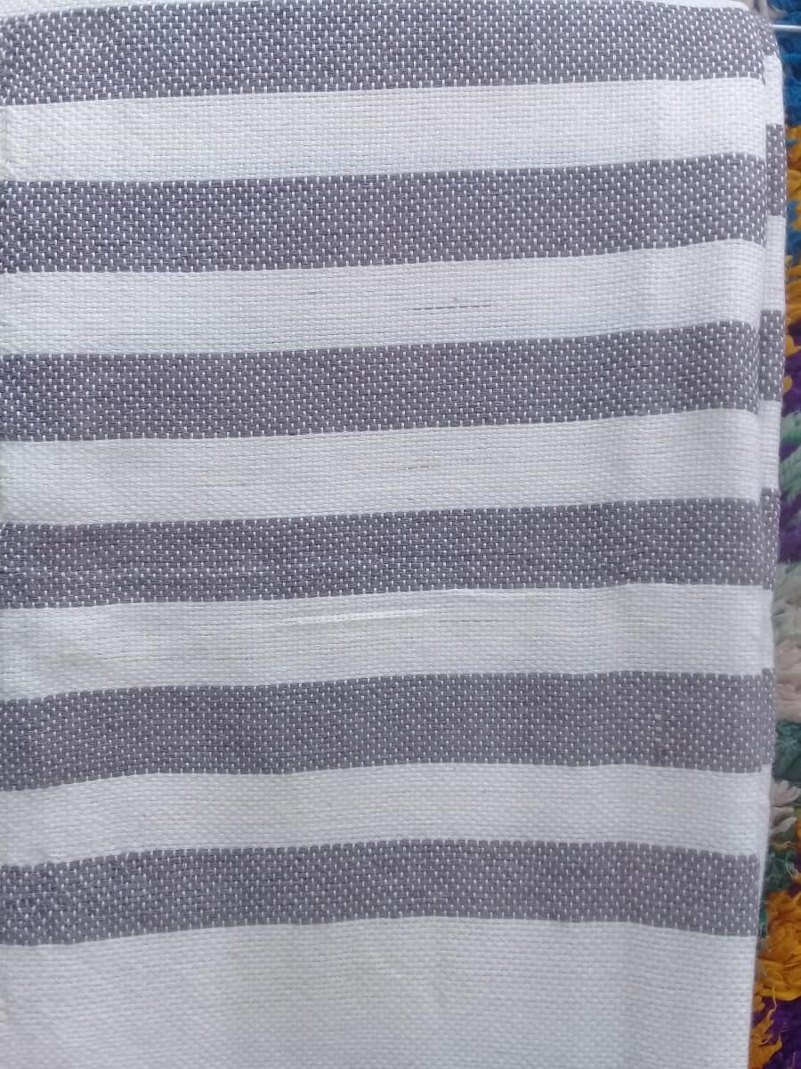 Towel Cotton Thread Grey, White Morocco