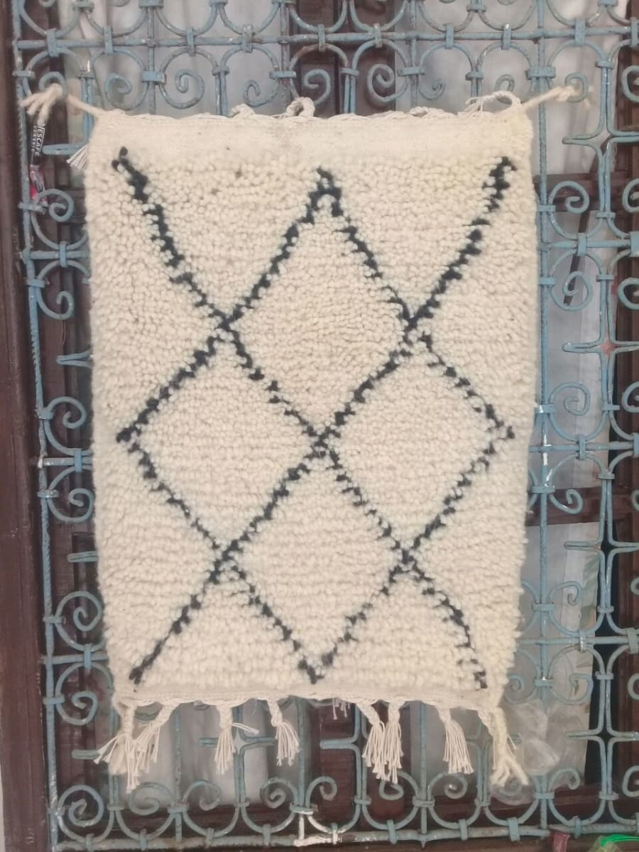 Pile knot Warp, Colored Wool, and Wool  Morocco