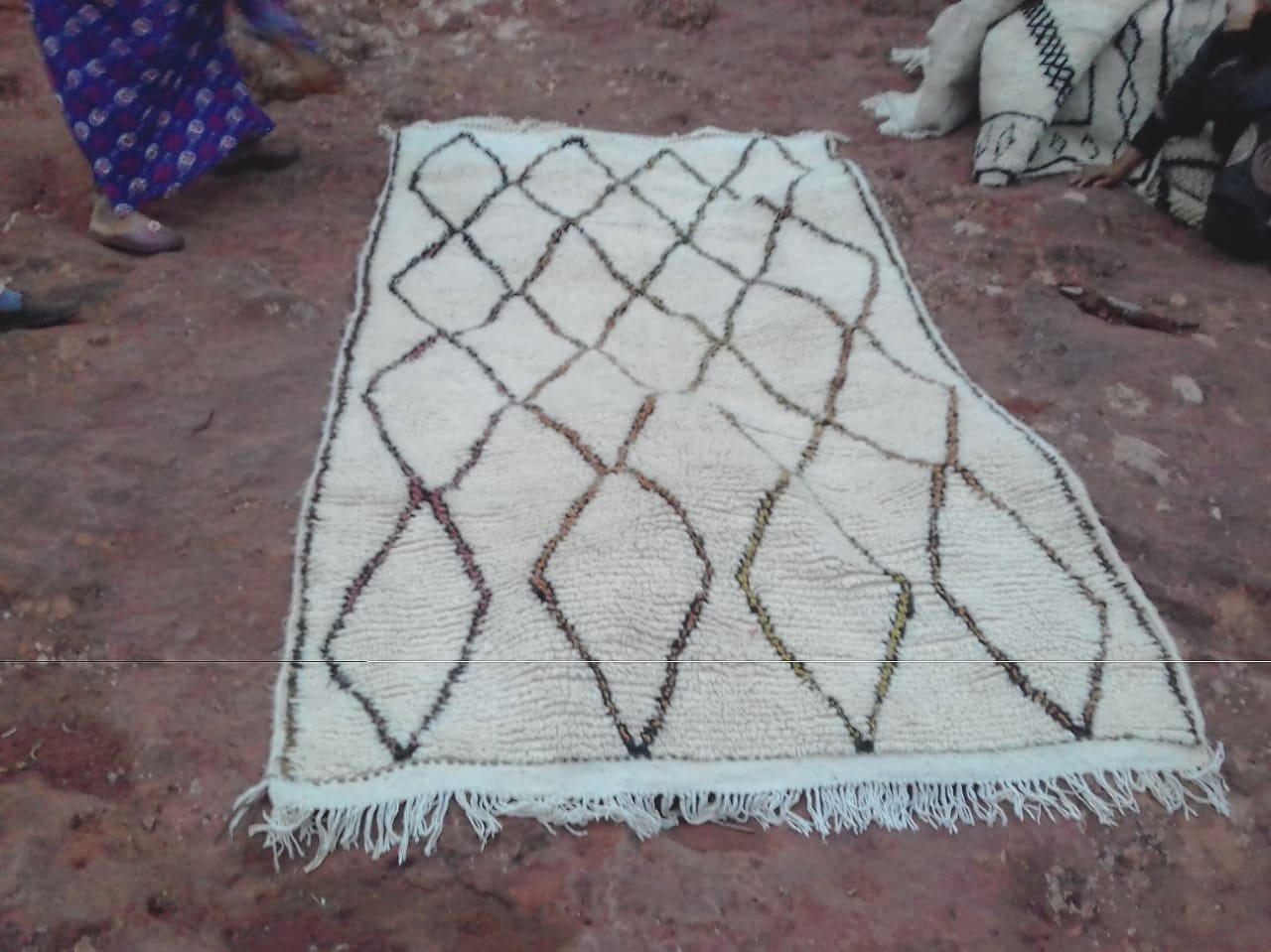Beni Ourain Rug  Brown, Black Morocco