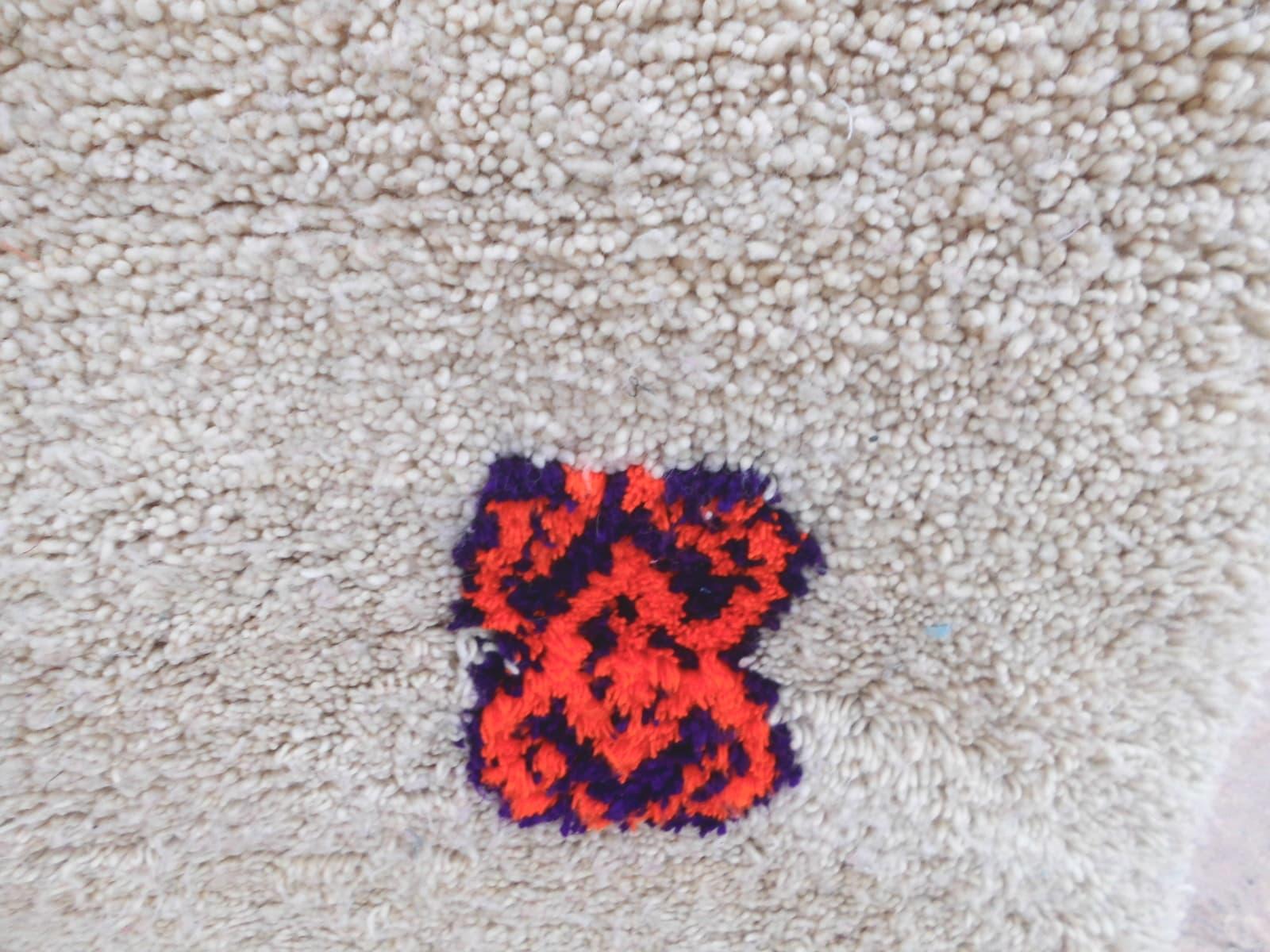 Pile Knot Rug  Orange, Black Morocco