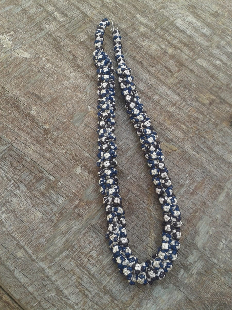 Cluster Necklace  Blue, Brown Morocco
