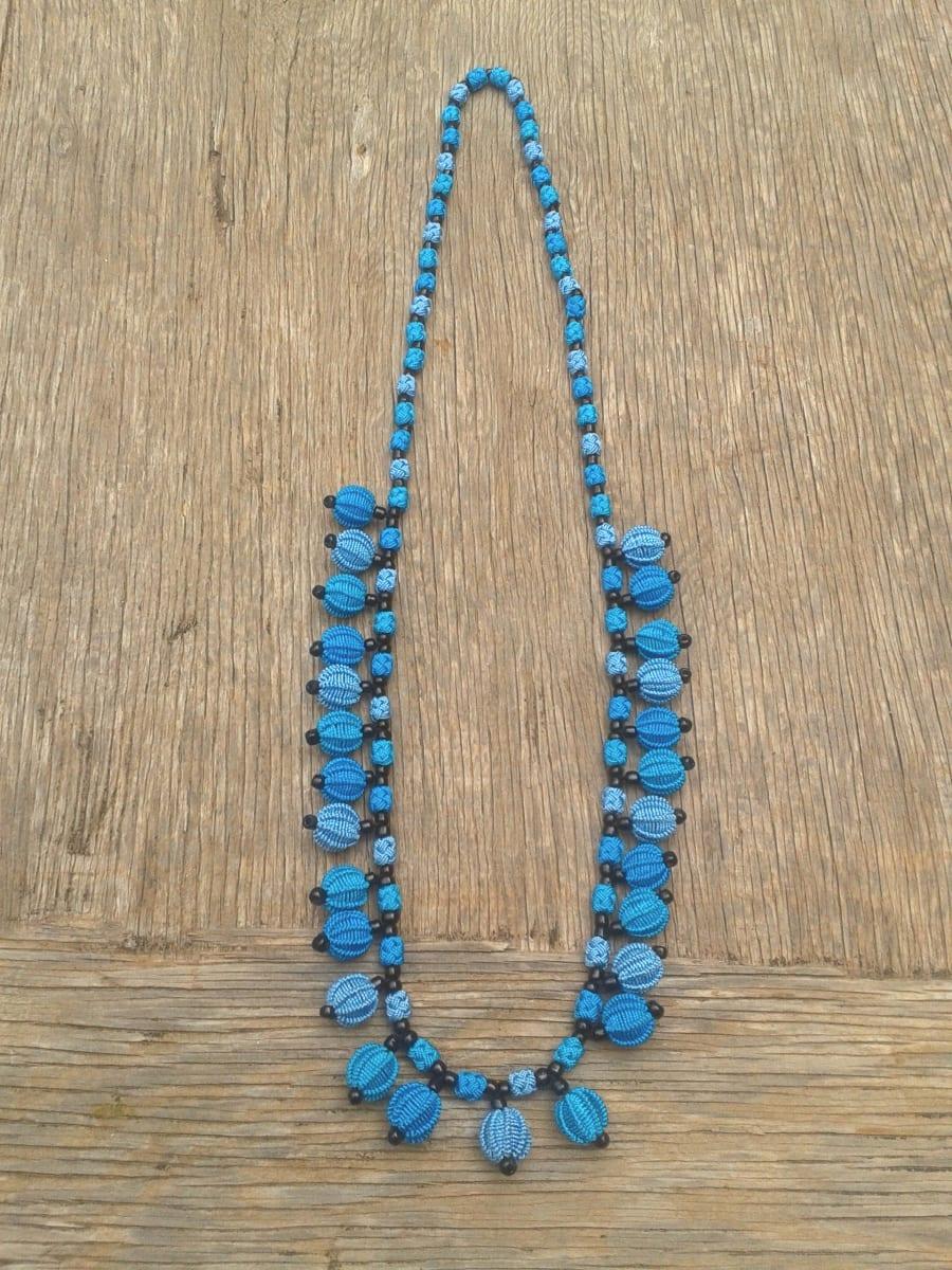 Multistrand Necklace  Light Blue, Blue Morocco