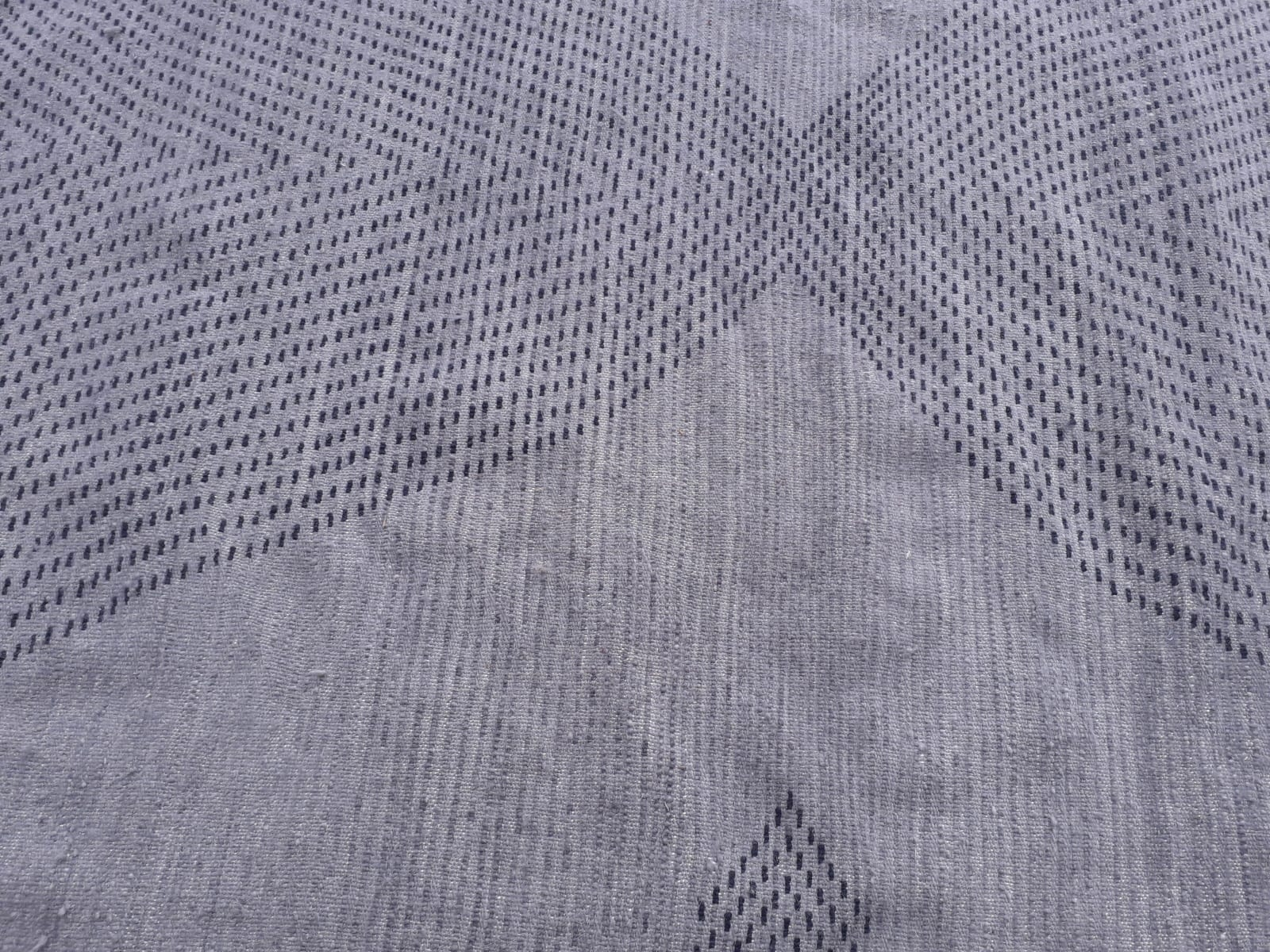 Pile Knot Rug Wool Light Blue, Blue Morocco