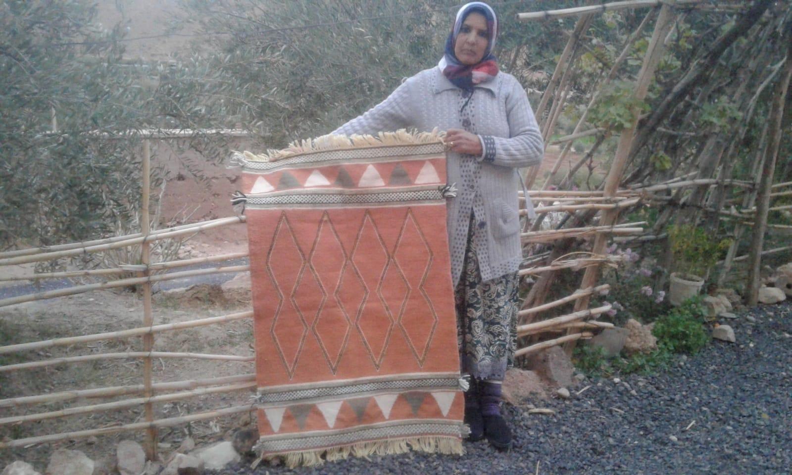 Hanbel  Light Blue, Pink Morocco