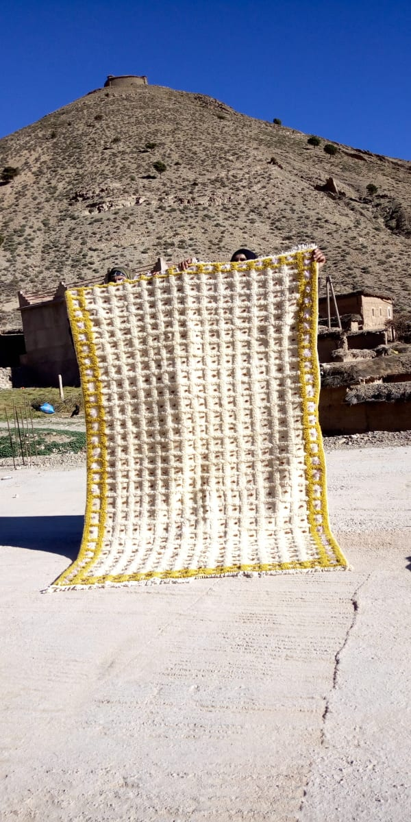 Beni Ourain  Yellow, Brown Morocco