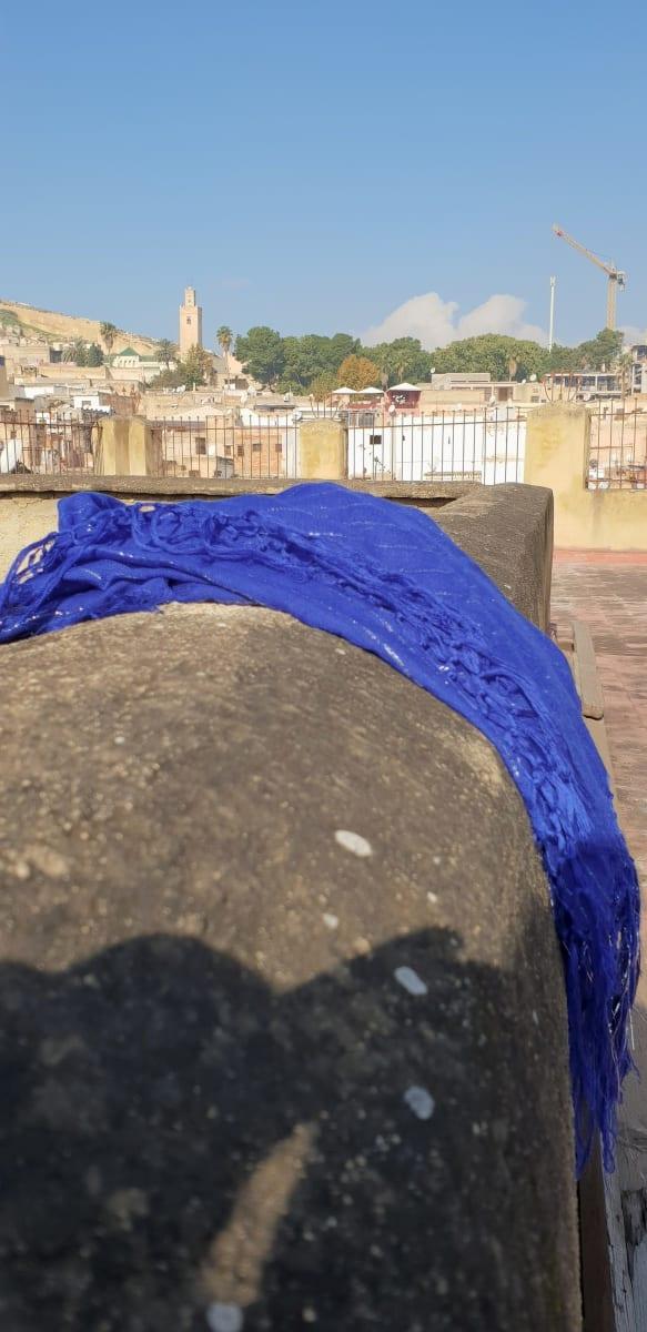Scarf Cotton string Blue Morocco