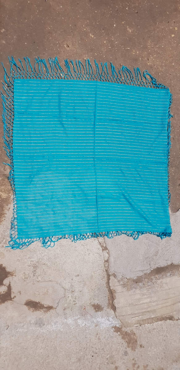 Scarf Cotton string Light Blue Morocco