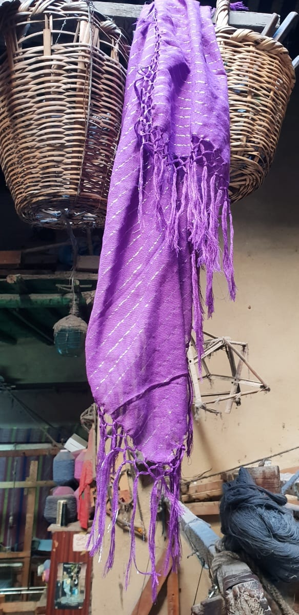 Scarf Cotton string Purple Morocco