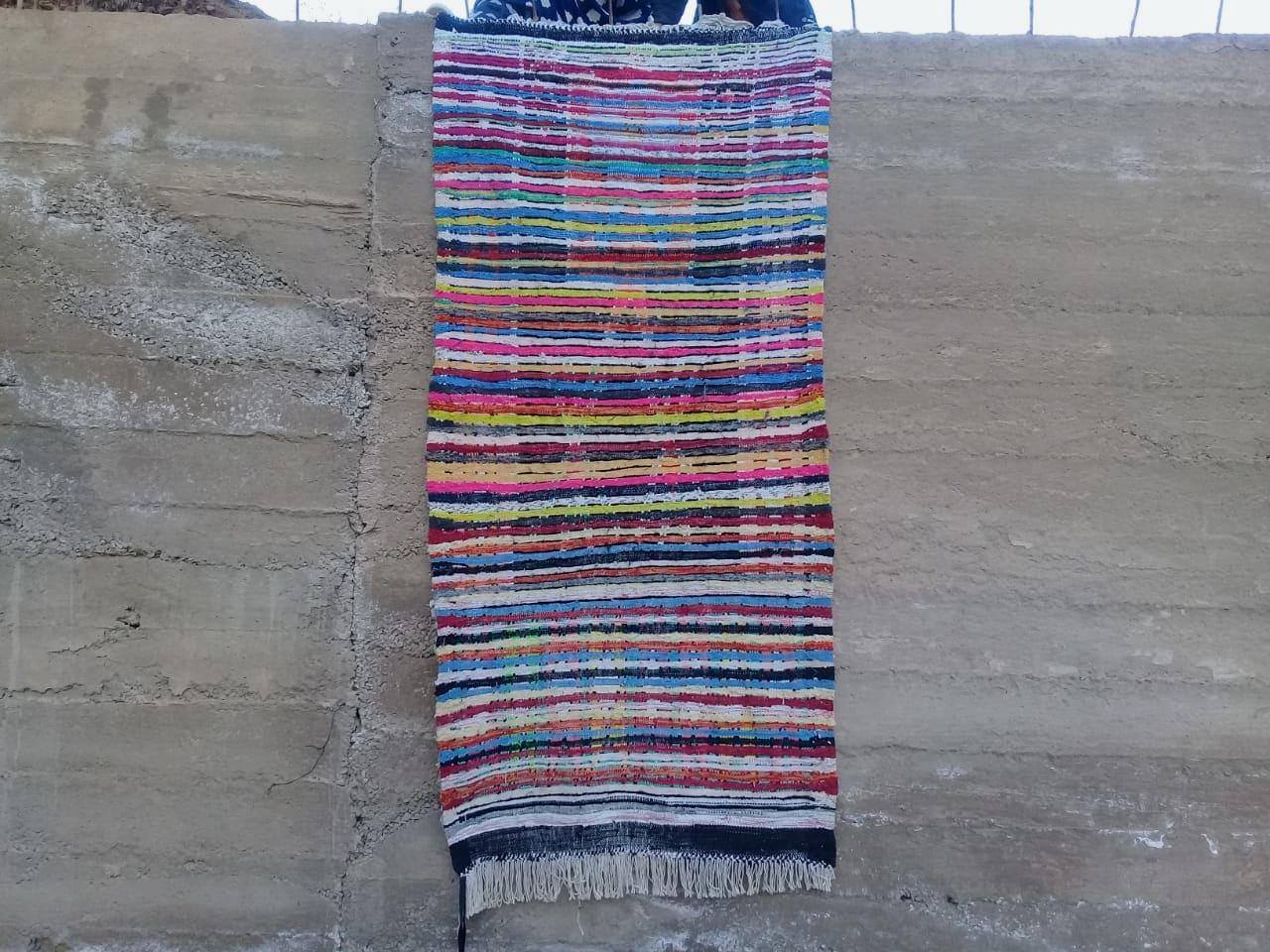 Boucherouite Warp and Cloth rags Colored Morocco