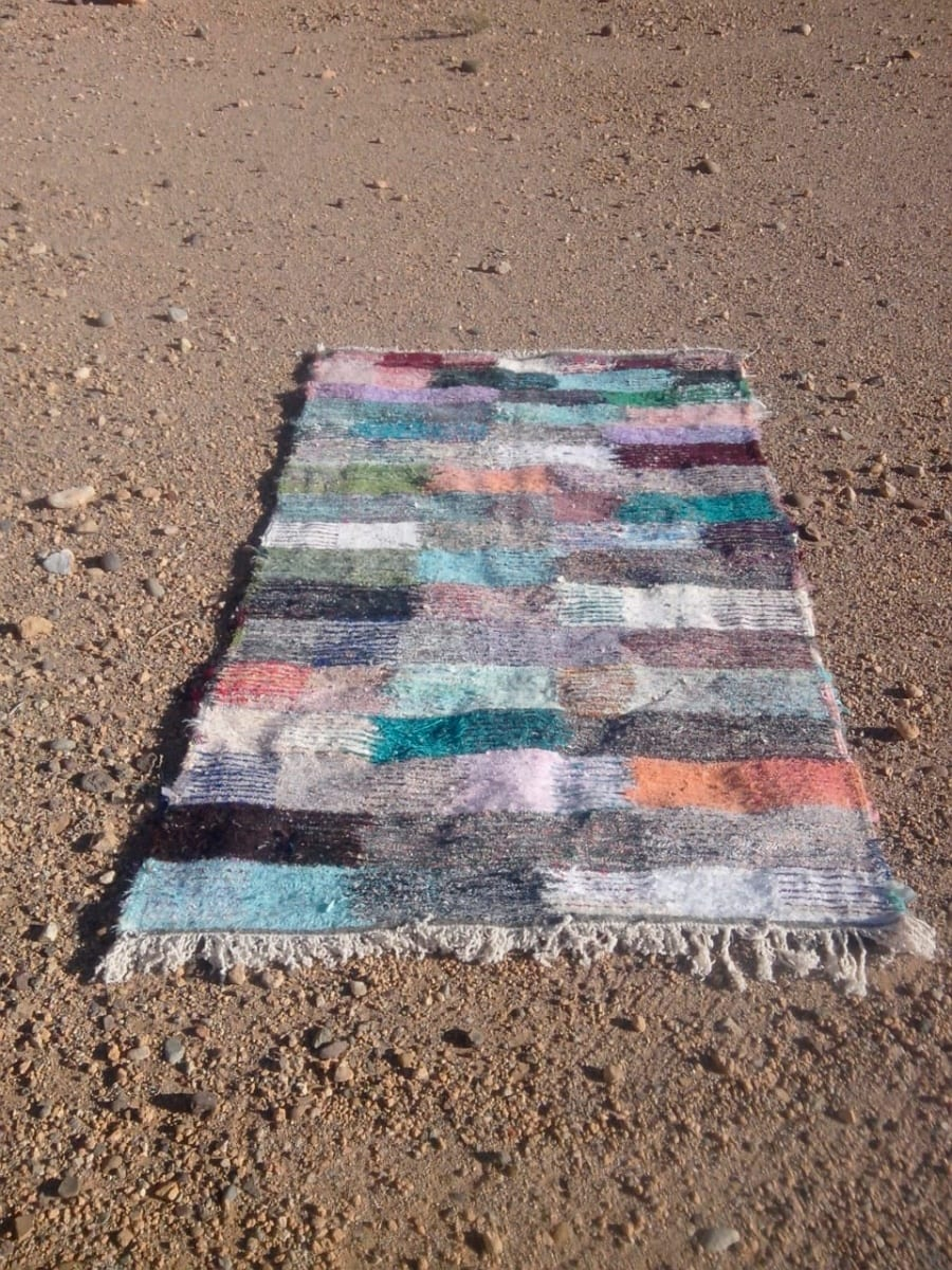 Flatweave Rug Up Cycled Thread  Colored Morocco