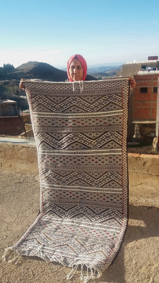 Hanbel Wool and Dyed Wool Colored Morocco