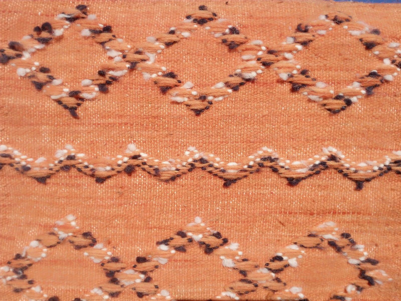 Hanbal Wool Orange, Black Morocco