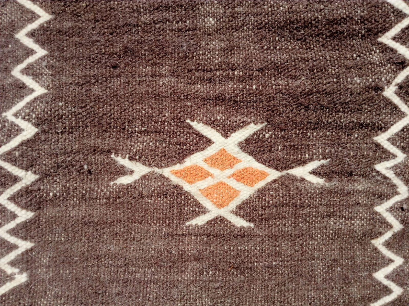 Hanbal Wool Orange, Grey Morocco