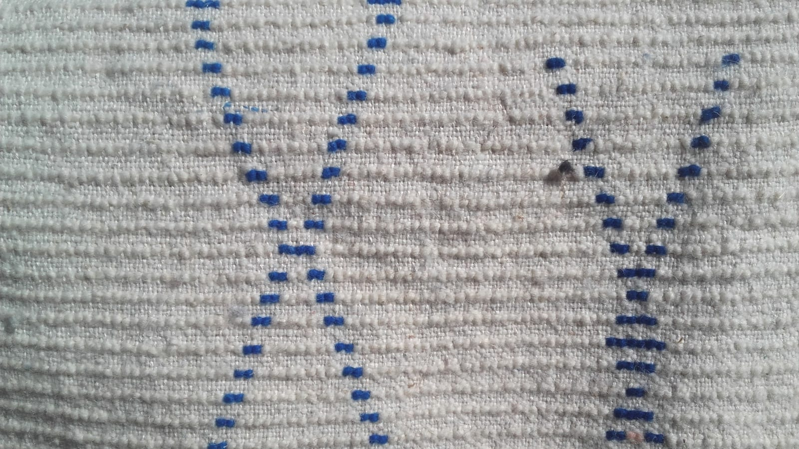 Pile Knot Rug Wool Pink, Blue Morocco