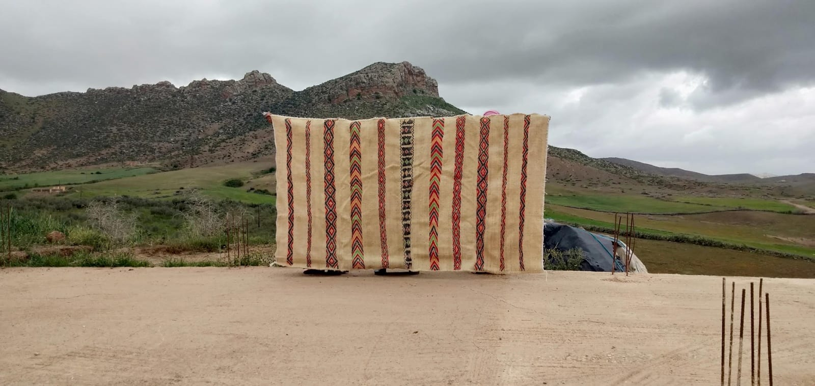 Hanbel Cotton and Tadout - Wool Colored Morocco