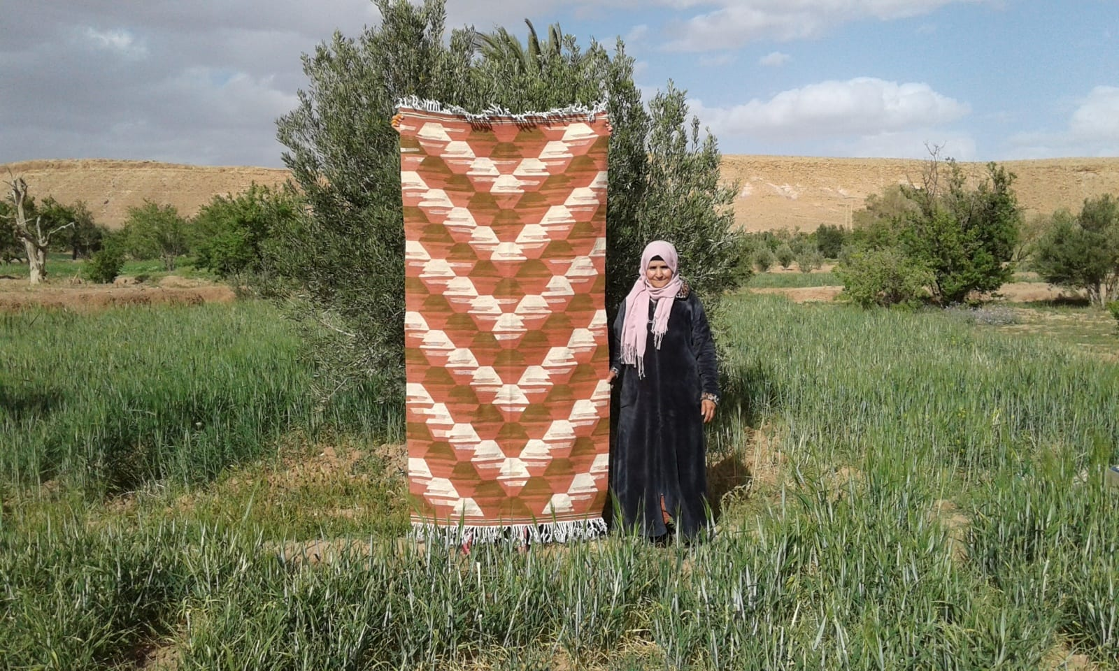 Hanbel  Pink, Brown Morocco