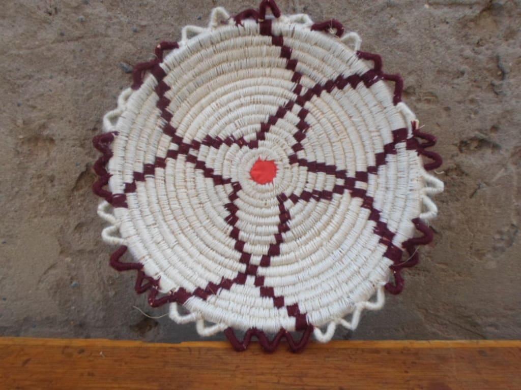 Basket  Brown, White Morocco