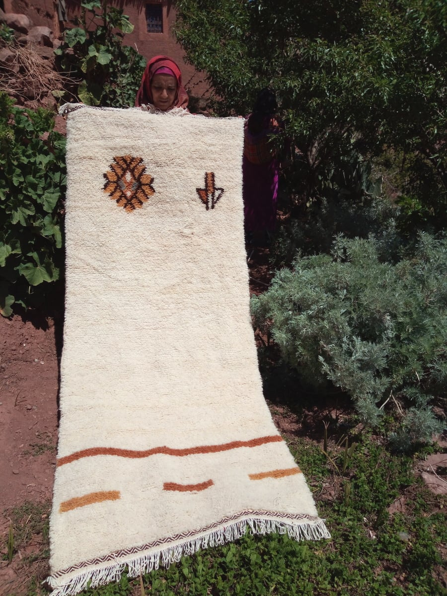 Beni Ourain Rug Dyed Wool Colored Morocco